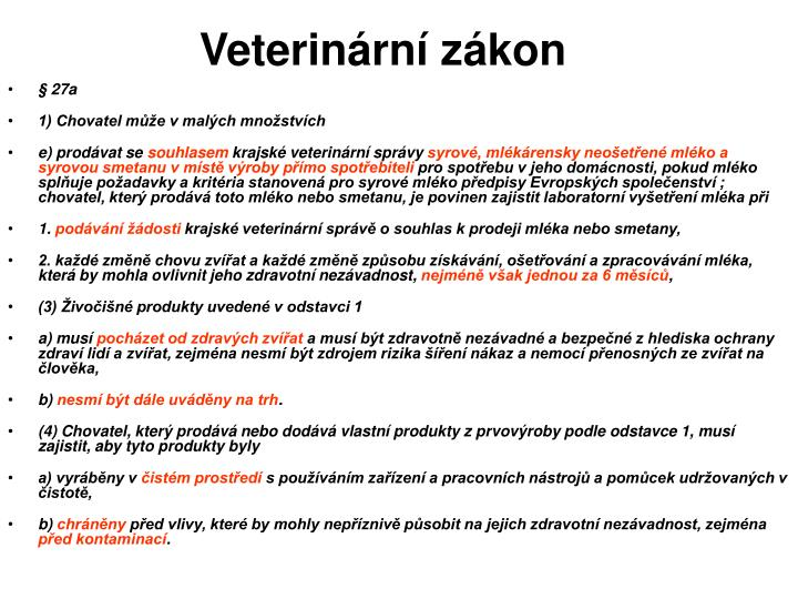 Veterinární zákon