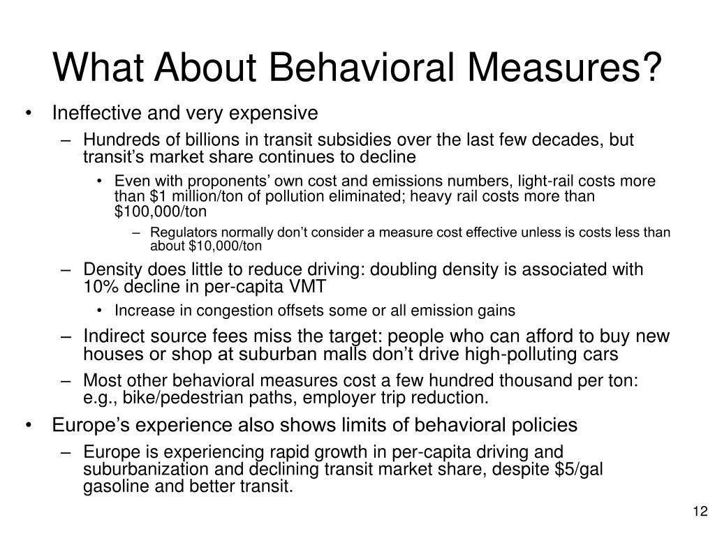 What About Behavioral Measures?