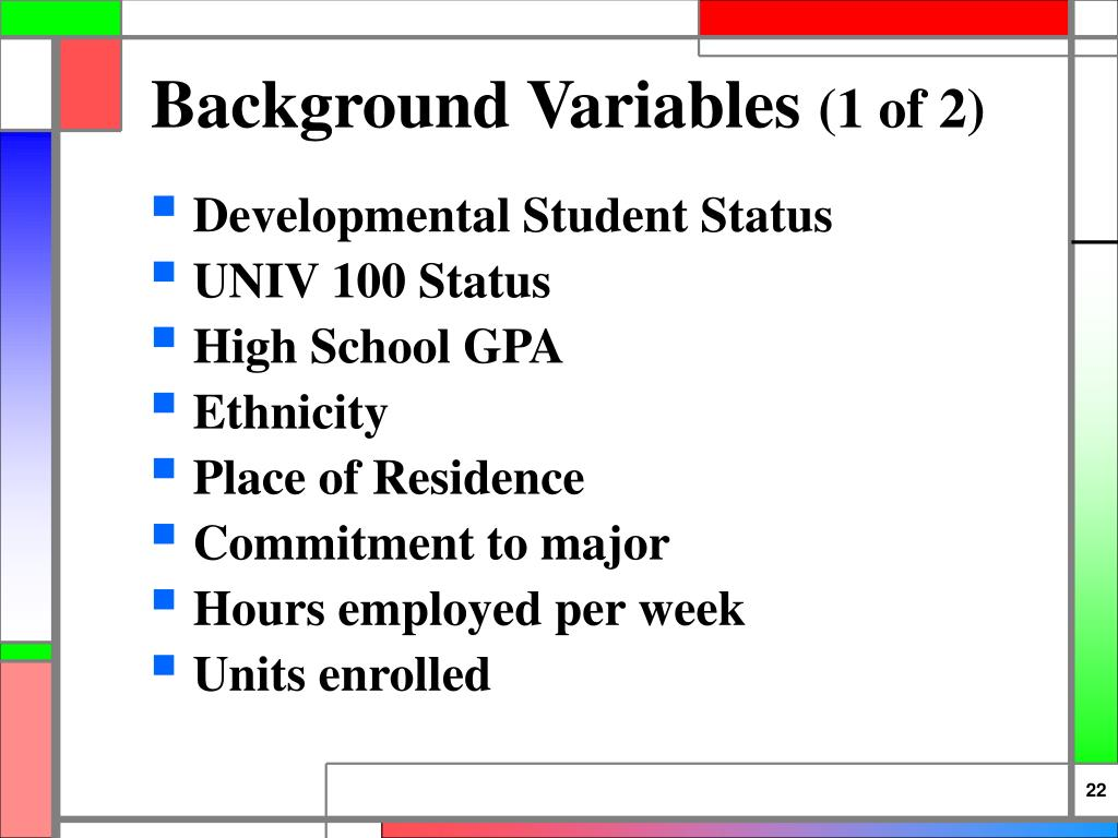Background Variables