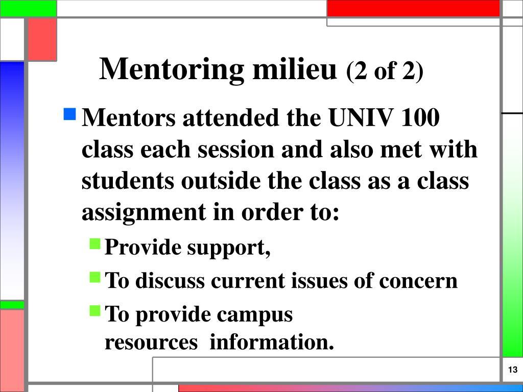 Mentoring milieu