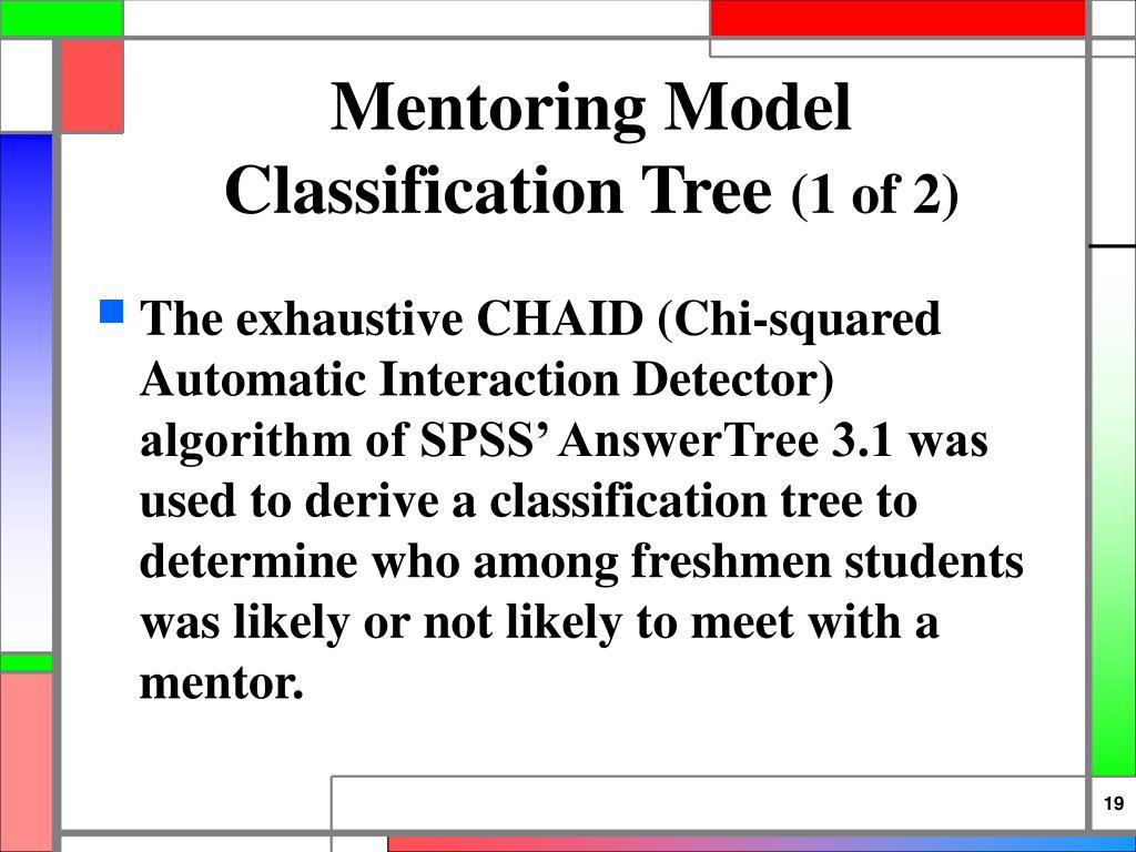 Mentoring Model Classification Tree