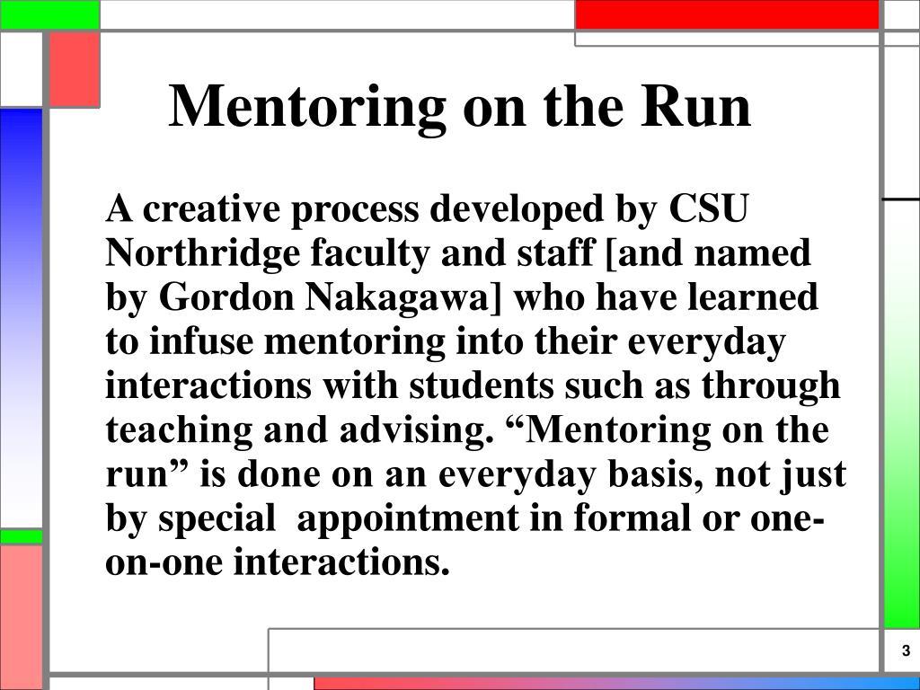 Mentoring on the Run