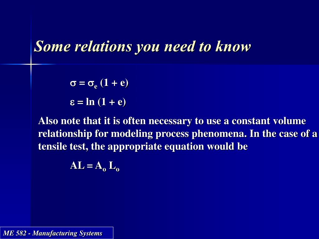 Some relations you need to know