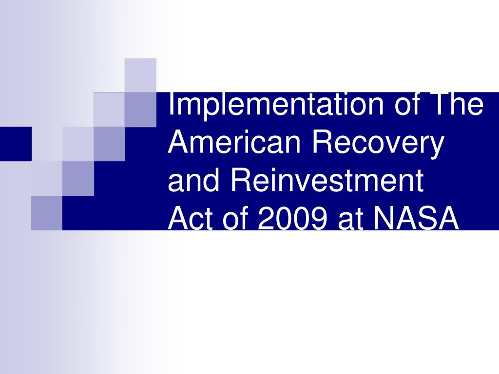 american recovery and reinvestment act of A subsequent version of this report was published in february 2015 in february 2009, in response to significant weakness in the economy, lawmakers enacted the american recovery and reinvestment act (arra.