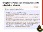 chapter 4 p olicies and measures newly adopted or planned15