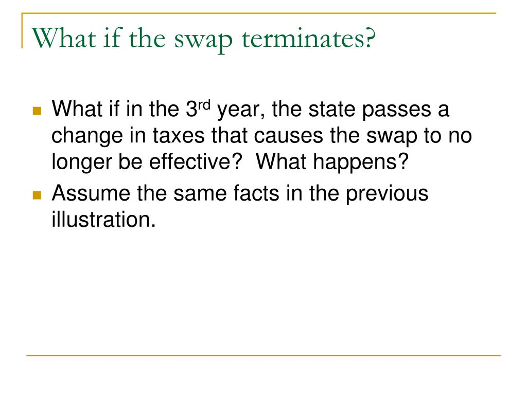 What if the swap terminates?