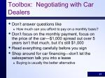 toolbox negotiating with car dealers27