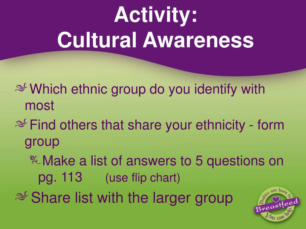 ethnic and cultural awareness in the