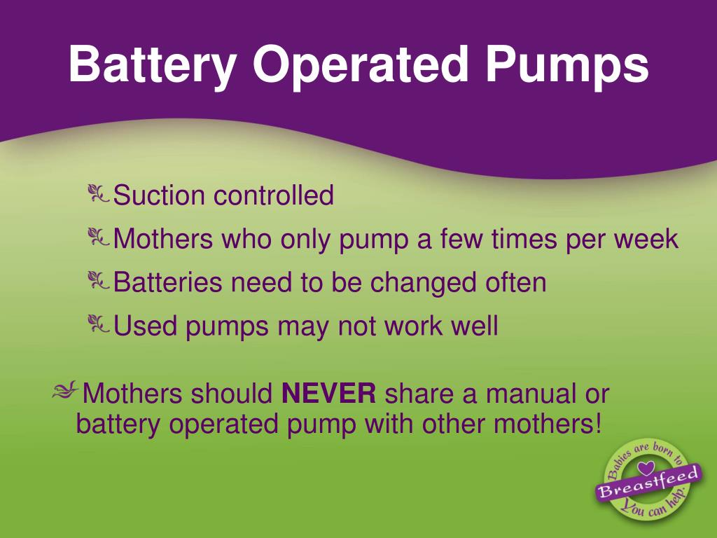 Battery Operated Pumps