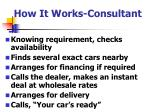 how it works consultant