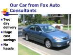 our car from fox auto consultants