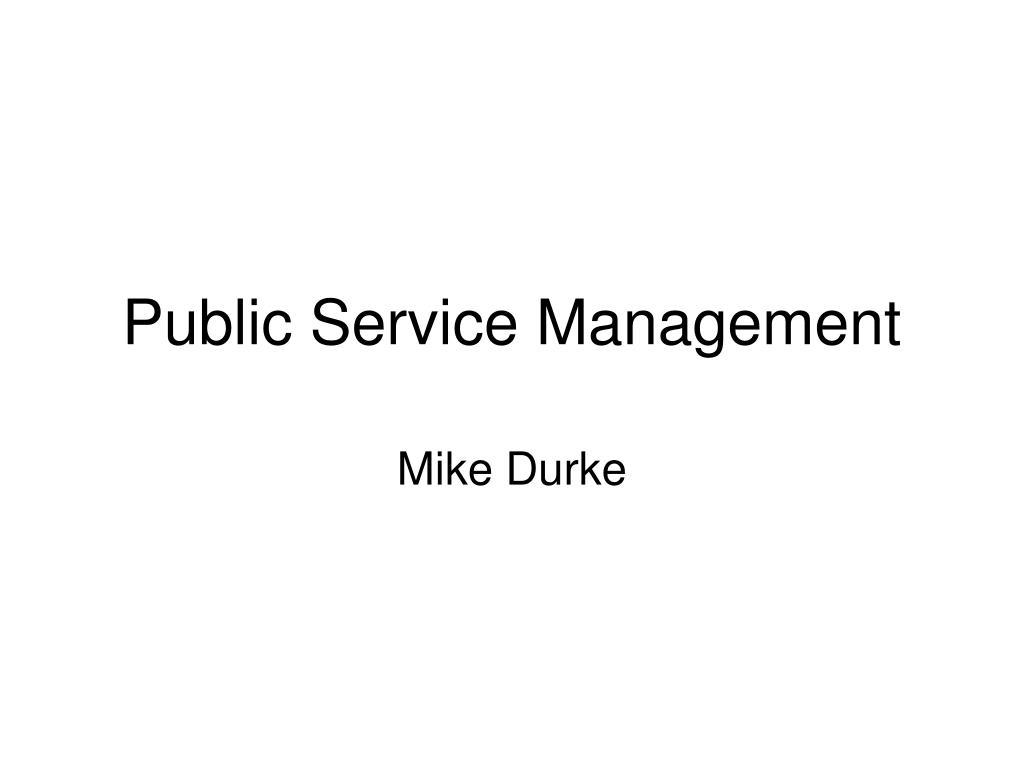 public service management l.