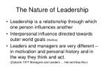 the nature of leadership12