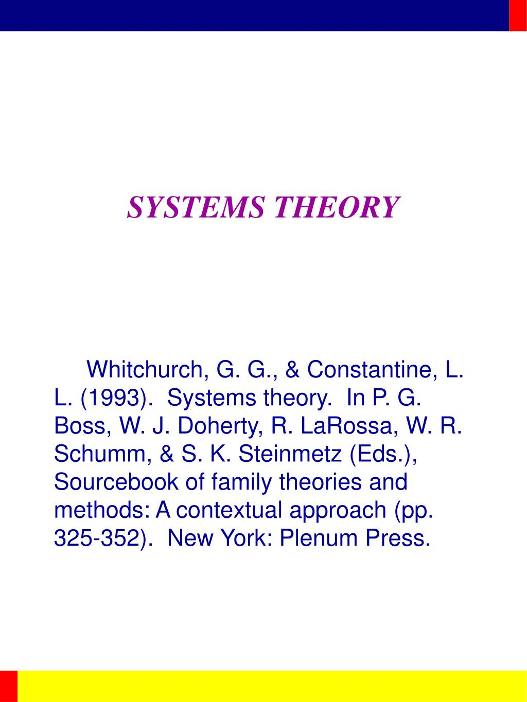 systems theory l.