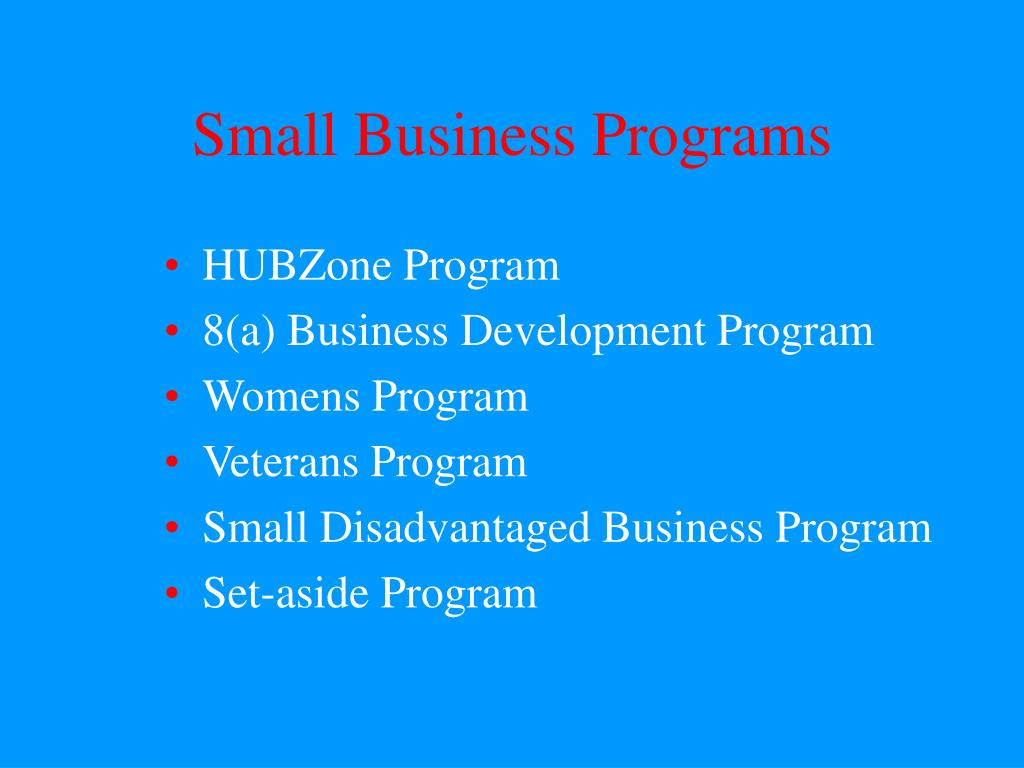 small business programs l.