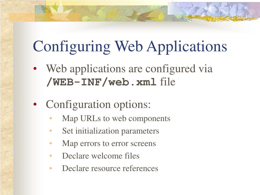 Configuring Web Applications