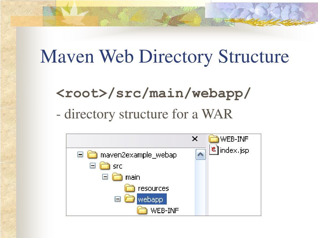 Maven Web Directory Structure