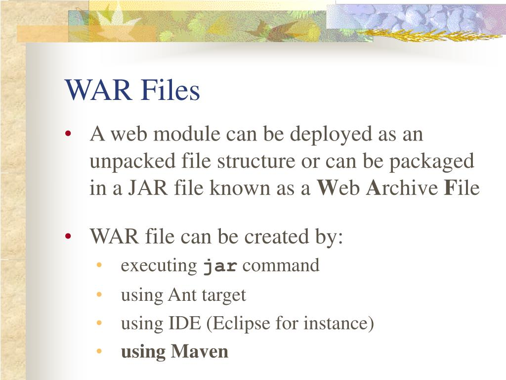 WAR Files