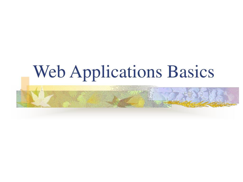 Web Applications Basics