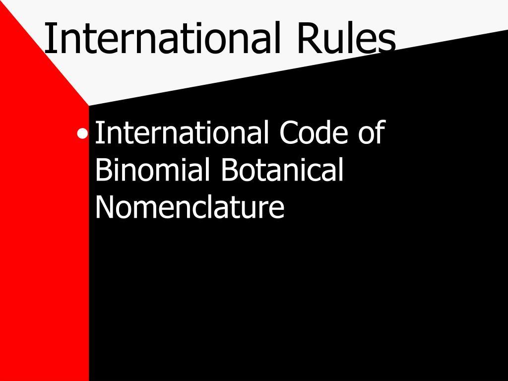 International Rules