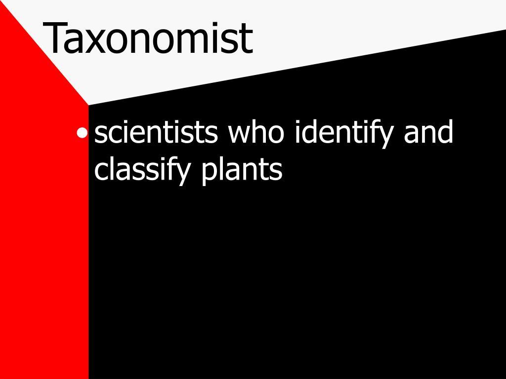 Taxonomist