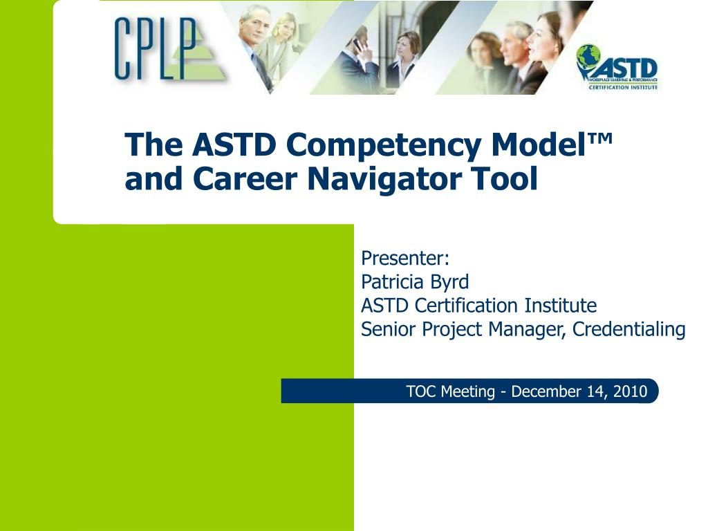 Ppt The Astd Competency Model And Career Navigator Tool