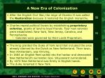 a new era of colonization