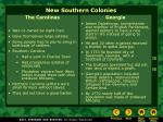 new southern colonies