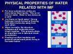 physical properties of water related with imf