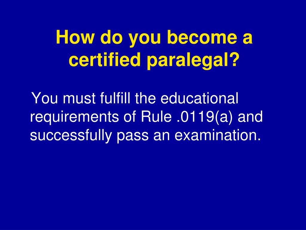 certification paralegals carolina program plan state north paralegal ppt powerpoint presentation