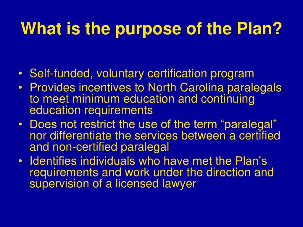plan certification carolina north program paralegals state paralegal ppt powerpoint presentation