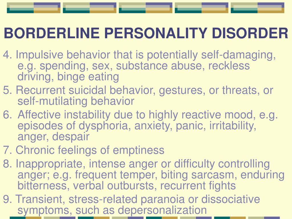 PPT - PERSONALITY DISORDERS: PowerPoint Presentation, free