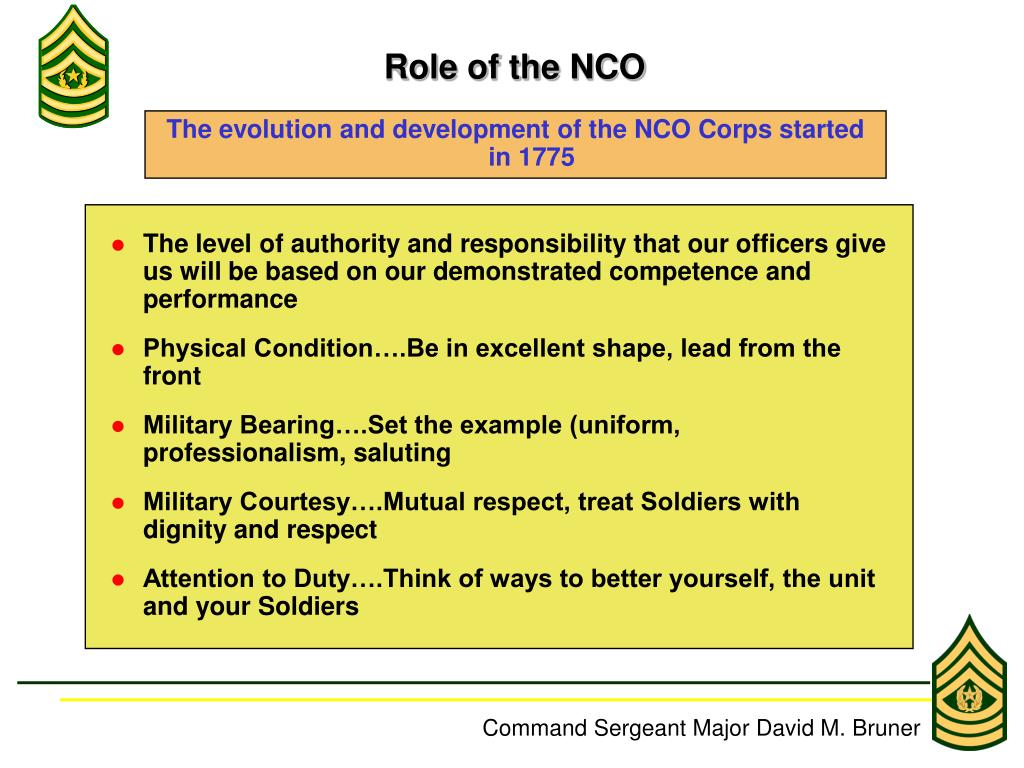 history on the nco History of marine nco roman legionnaires were responsible for: supervising training performing administrative and logistical tasks influenced the shaping of the nco structure the roman legionnaires organizational structure was copied by other nations.