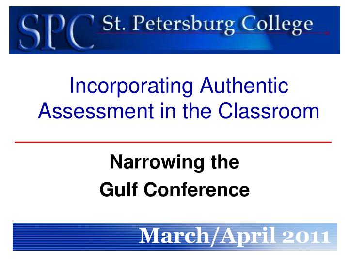 incorporating authentic assessment in the classroom n.