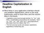 headline capitalization in english