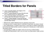 titled borders for panels