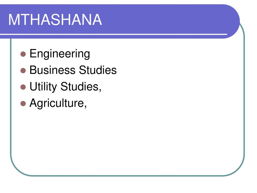 MTHASHANA