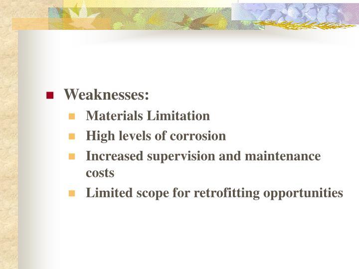 Weaknesses: