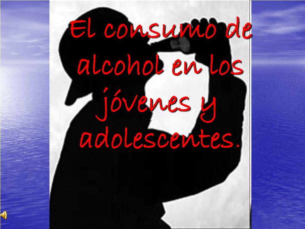 el consumo de alcohol en los j venes y adolescentes l.
