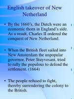 english takeover of new netherland