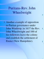 puritans rev john wheelwright