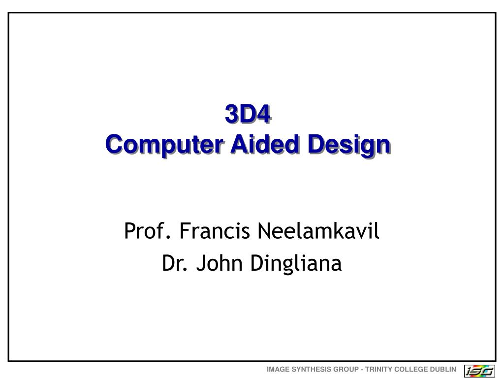 3d4 computer aided design l.