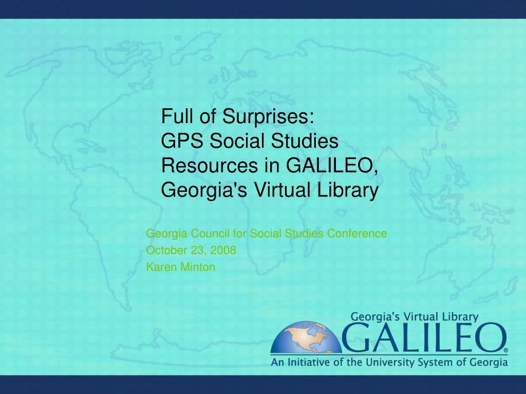 full of surprises gps social studies resources in galileo georgia s virtual library