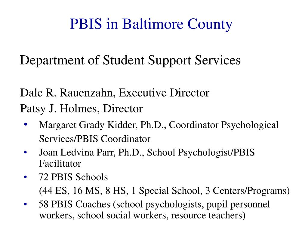 PBIS in Baltimore County