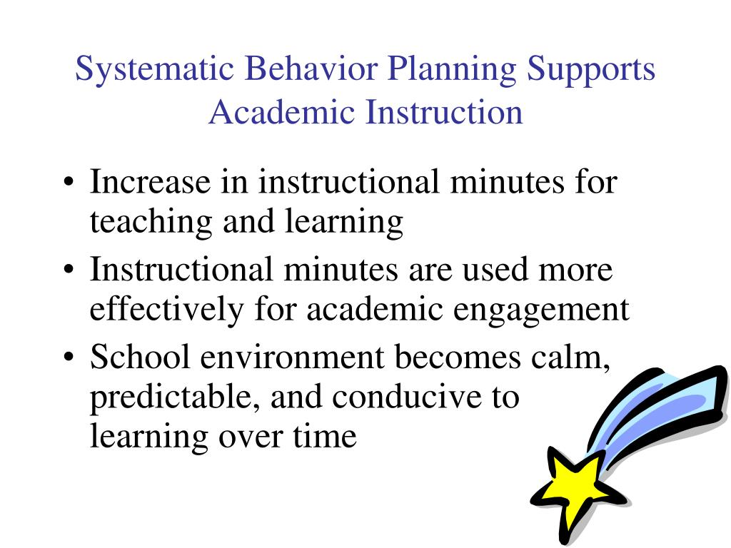 Systematic Behavior Planning Supports Academic Instruction