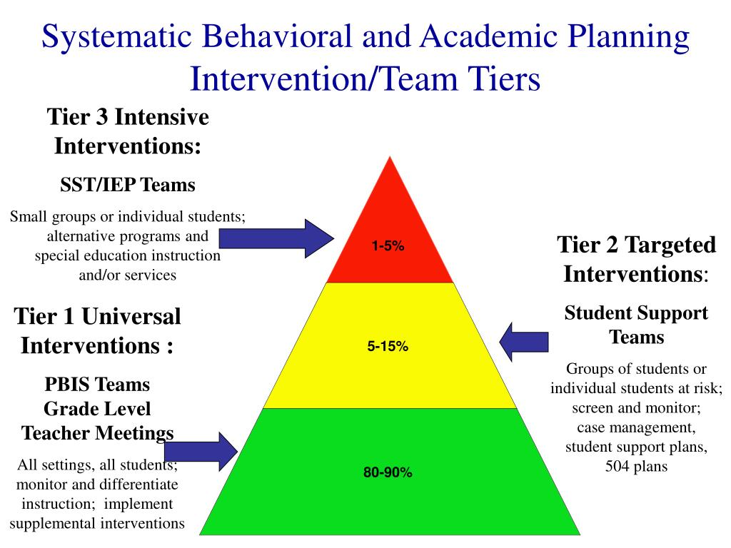 Systematic Behavioral and Academic Planning