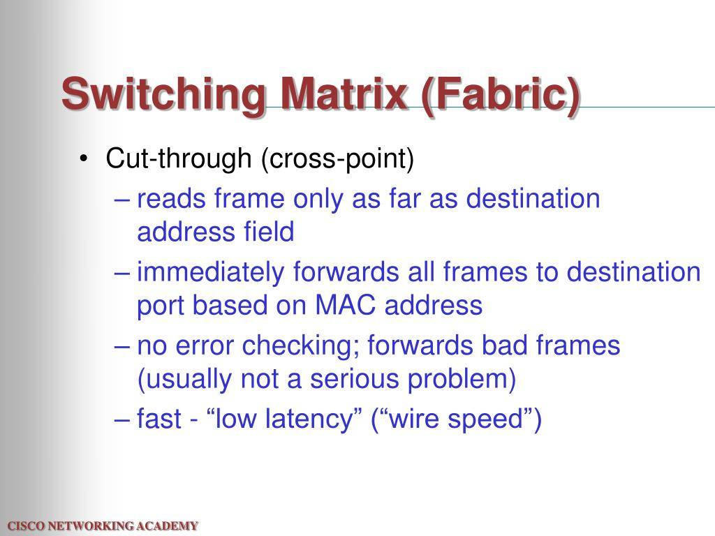 Switching Matrix (Fabric)