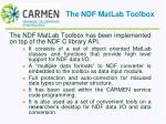 the ndf matlab toolbox