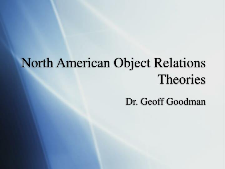 north american object relations theories n.
