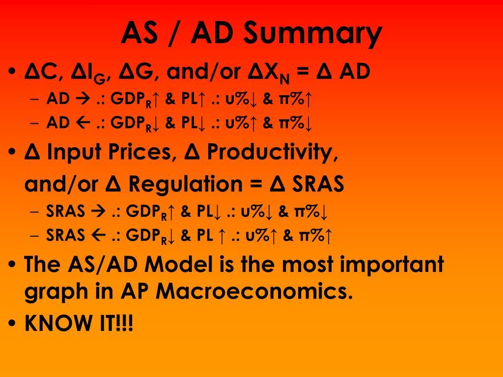 AS / AD Summary